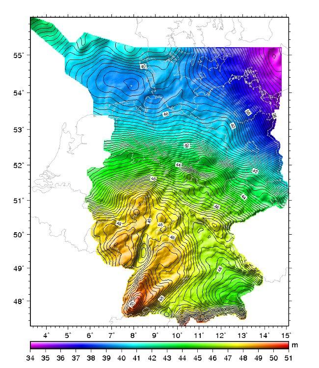 deutschlandkarte höhenmeter BKG   Höhenbezugsfläche von Deutschland