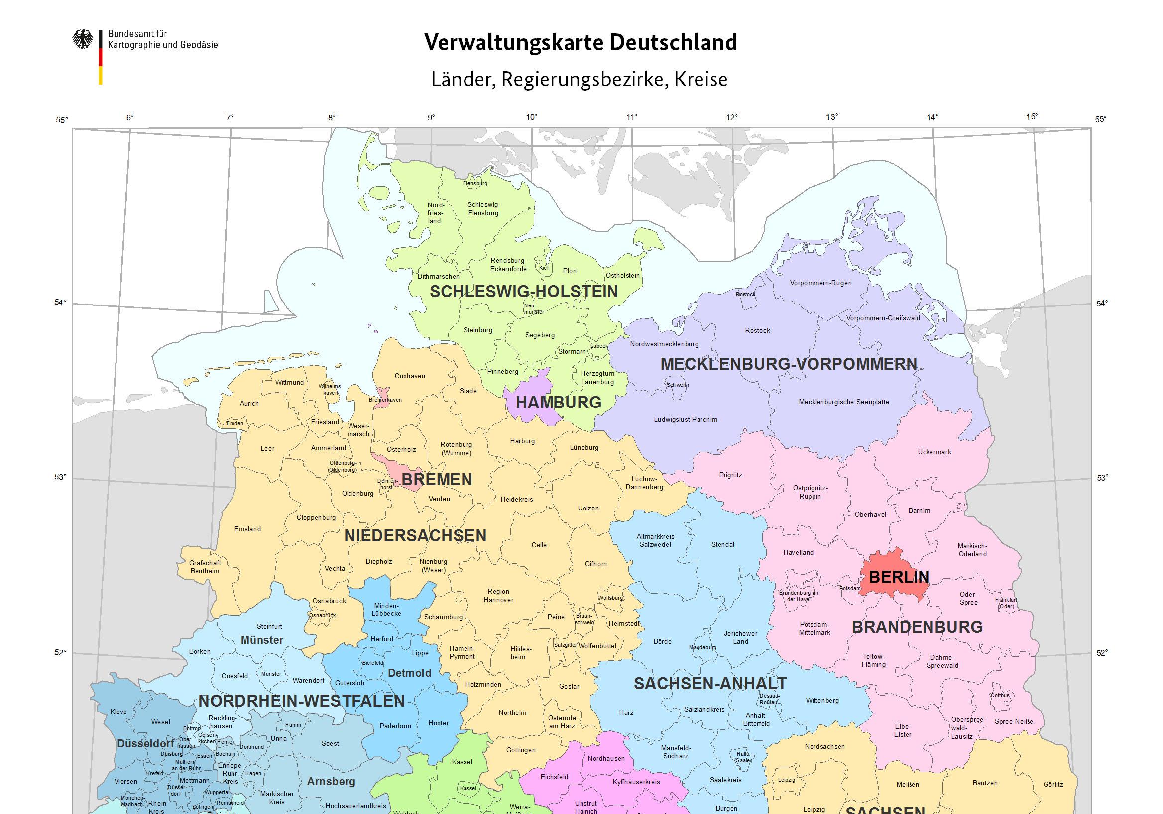 Bkg Verwaltungsgebiete